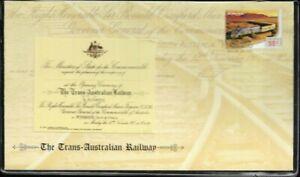 2010 Australia The Trans Australian Railway Prestige Cover 2761/10,000, VGC