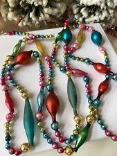 Lovely Vintage Mercury Glass Christmas Tree Garland ~ 80� German & Japan Beads