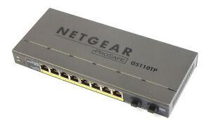 Netgear GS110TP V2 Prosafe 8-Port Gigabit Smart Switch With PoE And Fibre Uplink
