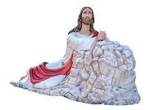 STATUA GESU' NELL'ORTO JESUS IN THE GARDEN OF OLIVES GETHSEMANE  Cm.230. 91 inch