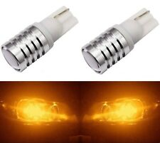 LED Light 5W Amber Orange 194 T10 Two Bulbs License Plate Replace Lamp OE Show