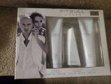 New listing Pitbull Woman 1.0 Fl. Oz Perfume gift set w/shower gel and lotion