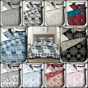 New Duvet Cover Bedding Set +Pillowcase Double King Sizes Stylish Quilt Cover