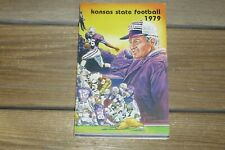 Vintage Kansas State Wildcat 1979 Football Media Guide - Coach Dickey's 2nd Yr