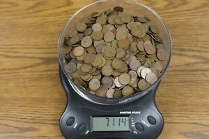 Huge Lot of Wheat Cents - Over 7 pounds - Over 1000 Pennies