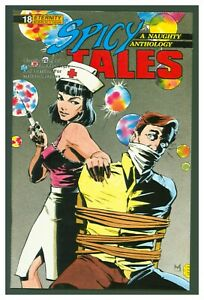 Spicy Tales #18 Fine+ 1990 Eternity Comics - Naughty Nurse Bondage Cover