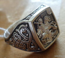 ring men  silver 925 st George consecrated to the relics of st George size 12.0