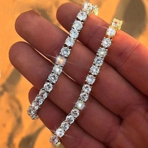 Hip Hop Men's Crystal Single Row Bracelet Cubic Zirconia Bracelets Chain Jewelry