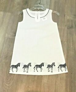 NWT Janie and Jack Elegant Zebras-Print Cotton Beach Cover Up Dress, Size 10