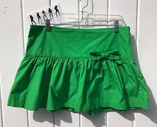 Abercrombie & Fitch Kelly Green 100% Cotton Women's Casual Mini Skirt - Size 10