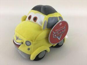 "Disney Store Luigi Cars 5"" Fiat Plush Stuffed Toy Yellow Car New With Tags 2006"