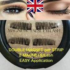 Double Magnetic Eyelashes 3D Reusable False Two Magnet Eye Lashes Extension UK