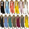 Women's Printed Sleeveless V neck Maxi Dress Split Hem Baggy Kaftan Long Dress