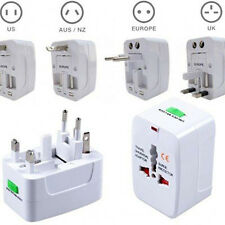 World Universal All in one Travel AC Power Adapter Converter to US EU AU UK Plug