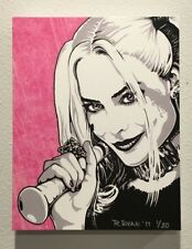 HARLEY QUINN SUICIDE SQUAD MARGOT ROBBIE ORIGINAL CANVAS PRINT READY TO HANG!!