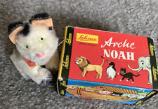 """1950's SCHUCO MINIATURE MOHAIR 3"""" WHITE KITTEN CAT Mint W/Tag And Box NR"""