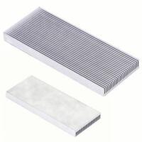 Radiatorkühler 150x50x25mm Aluminium blank unbearbeitet Rippen-Kühlkörper