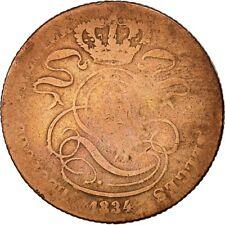 [#425173] Munten, België, Leopold I, 5 Centimes, 1834, ZG+, Koper, KM:5.1