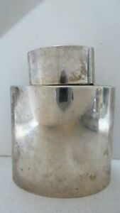 ANTIQUE THOMAS HAYES EDWARDIAN STERLING SILVER TEA CADDY / FLASK