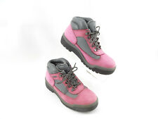 Timberland Pink Rose Gray Suede Waterproof Boots 13393 Womens sz 6 M