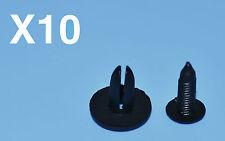 10 x Nissan Micra schwarz Kunststoff Nieten Klemme passend Seitenverkleidungen