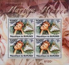 Marilyn Monroe 4-valeur STAMP SHEET #3 (2011 Burundi)
