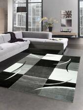 Designer Tapis karo gris blanc noir