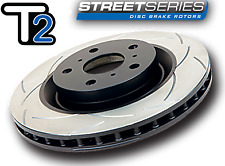 DBA Front T2 Street Series Grooved Brake Discs For Mazda 3 MPS Mazdaspeed 07-13