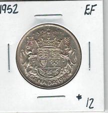 Canada 1952 Silver 50 Cents EF
