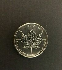 2002 1 ounce silver $5 coin Canada Maple Leaf  Limited Quantity
