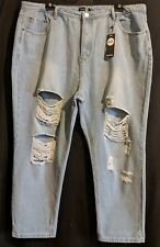 """WOMEN'S JEANS BOOHOO ANNIE RIPPED SIZE 24 LEG 29"""" NWT FREE POSTAGE"""