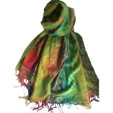 Peacock Feather Floral Pashmina Cashmere Scarf Ladies Rainbow Multicolor Shawl