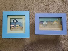 2 Beach Wall Art Sandbox Sand Shells