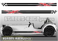 Caterham 007 racing stripes graphics stickers decals Union Jack