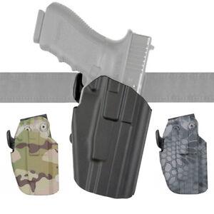 Tactical Waist Belt Gun Holster for Glock 17 20 21 22 37 Black CP Typhon