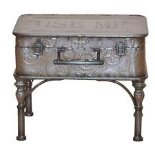 "Couchtisch ""Koffer"" Beistelltisch Truhe Metalltisch Farbe: Antik-Grau"