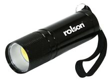 Rolson 3w COB Aluminium Flashlight Mini Small Torch Travel Camping Hiking 61565