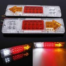 white Rear 2x Led Truck *for Trailer Function Lights 12v Lorry Tail Turn Lamp