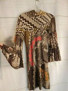 missoni knit dress, bell sleeves, made in Italy, size 2