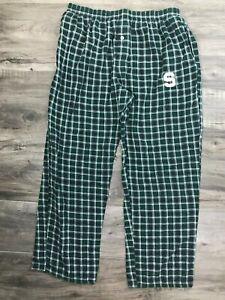 Concept Sport MSU Michigan State Sleep Pant Green White Check Large