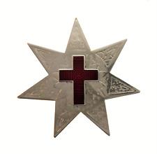 Star with 7 Points Red Enamel Cross Nickel-Plated Symbol Orange Order Collarette