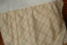 "Ralph Lauren Margate Mews King Plaid Ruffled Bedskirt Cream Brown Pink 18"" Drop"