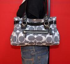 COACH Penelope Shantung Gray Signature Jacquard Leather Shoulder Purse Bag 13290