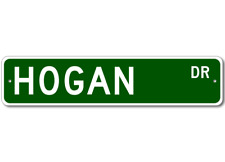 HOGAN Street Sign - Personalized Last Name Sign