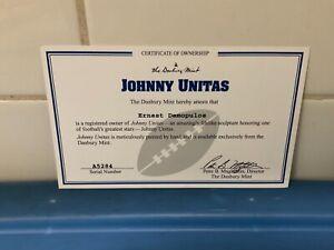 Danbury Mint  -  Baltimore Colts Johnny Unitas   -   C.O.A