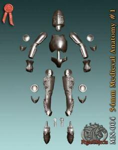 Pegaso Models 54mm Medieval Anatomy #1 White Metal Figure Base Mannequin #MN-004