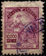 "BRAZIL, 10000 REIS, YEAR 1928, INSCRIPTION ""BRASIL"", USED, VERY NICE STAMP."