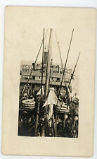 Unidentifed military transport ship. #2 RPPC real photo Postcard
