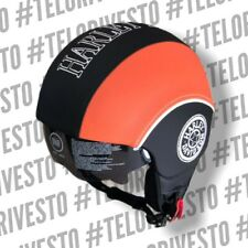 Casco Harley Davidson visiera interna scomparsa scura personalizzabile in pelle
