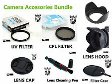 FK64 CPL UV Filter Lens Hood Cap Pen Bundles for Nikon Coolpix P900 P900s Camera